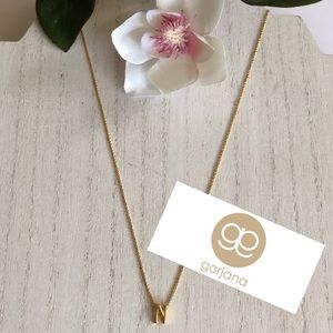 Gorjana Necklace Initial N 18k gold plated NWT